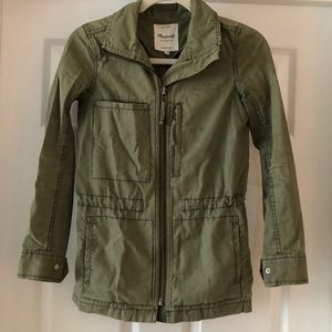 Madewell cotton twill military jacket